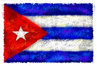 Drawing of the flag of Cuba