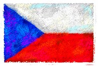 Drawing of the flag of Czech Republic (thumbnail)