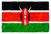 Drawing of the flag of Kenya