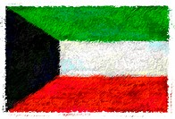 Drawing of the flag of Kuwait