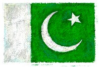 Drawing of the flag of Pakistan