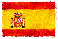 Drawing of the flag of Spain