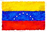 Drawing of the flag of Venezuela