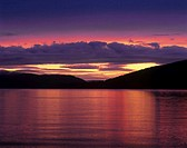 USA, Washington, San Juan Islands, sunset