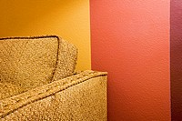 Detail of Yellow Armchair and Red Wall