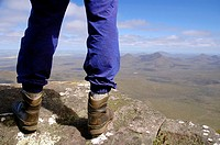 Hiker on top of the world - Mt Toolbrunup, Stirling Range National Park, Western Australia