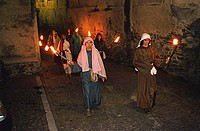 People, on, Good, Friday, procession, Garessio, Piemont, Italy