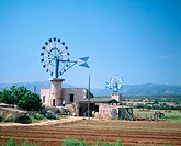 Wind mill. Majorca. Balearic Islands. Spain