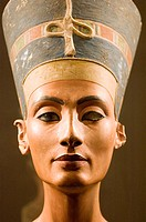 Europe, Germany, Berlin, Altes Museum, Bust of Queen Nefertiti