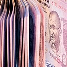 Close-up of Indian fifty rupee banknotes