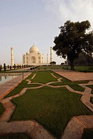 Garden in front of a mausoleum, Taj Mahal, Agra, Uttar Pradesh, India