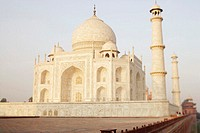 Tourist walking on a walkway, Taj Mahal, Agra, Uttar Pradesh, India
