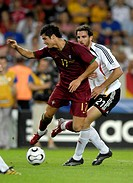 Sport, football, world championships, match for third place, Germany versus Portugal, 3:1, Stuttgart, 8 7 2006, Christiano Ronaldo, Christoph Metzelde...