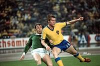 SG Sport hist , Fußball, Weltmeisterschaft, WM 1974, WM Endrunde, Zwischenrunde, Deutschland gegen Schweden, 4:2 in Düsseldorf, Deutschland, 30 6 1974...