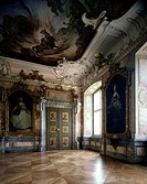 geography/travel, Germany, Baden-Wuerttemberg, Tettnang, buildings, New Palace, interior view, hall of Bacchus, 1712 - 1728, built by Christoph Gessin...