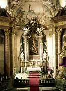geography/travel, Germany, Baden-Wuerttemberg, Ludwigsburg, buildings, residential castle, interior view, castle church, 1712 - 1723, built by Donato ...