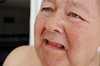 Close-up of a mature man crying