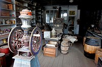 Interior of Boone Store & Warehouse, ghost town of Bodie, California, USA