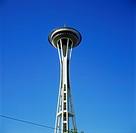 Geografie, USA, Washington, Seattle, Space Needle, Detail, Außenansicht, Architektur, erbaut zur Weltausstellung 1962, Restaurant, Architekt: John Gra...