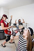 Rock band practicing (thumbnail)