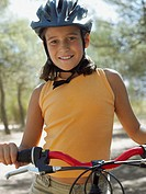 Girl with bike (thumbnail)