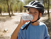 Boy drinking water (thumbnail)