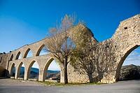 Aqueduct (XIVth century). Morella. Els Ports. Castellón province. Valencia. Spain