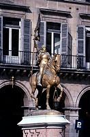 Jeanne d`Arc, ´Jungfrau von Orleans´, 6 1 1412 - 30 5 1431, frz Nationalheilige, Denkmal, Reiterstandbild, Paris, Frankreich, Europa, Geografie, Denkm...