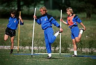 Klinsmann, Jürgen, * 30 7 1964, German athlete soccer / football, full length, with Andreas Brehme, training, Milan, Italy, circa 1990, sport, sports,...