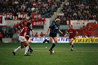 Klinsmann, Jürgen, * 30 7 1964, German athlete soccer / football, full length, Milan, Italy, circa 1990, sport, sports, Jurgen, Juergen, Inter Milan, ...
