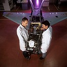 Sperwer UAV manufacture  Engineers assembling a Sperwer UAV unmanned aerial vehicle at a manufacturing and testing facility  UAVs, sometimes known as ...