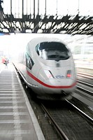 ICE express train  This train travels from Frankfurt, Germany to Amsterdam, Netherlands around three times a day  It is a high speed train and it can ...