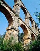Roman aqueduct, also known as Pont del Diable (2th century A.D.). Tarragona, Catalonia, Spain