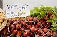 California. San Francisco. Ferry Building Farmer's Market. Beets for sale