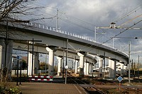 Railway system in Holland, Amsterdam-Sloterdijk, Netherlands