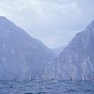 Italy, Gardasee, windsurfers, North-Italy, sea, Lago di Garda, destination, sport-area, water-sport, sport, sport, surfers, windsurfing, windsurfs, su...