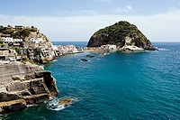 Italy, island Ischia, Sant´ Angelo, place-opinion, Mediterranean, golf of Naples, coast, rock-coast, houses, residences, destination, tourism,