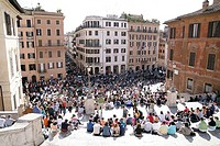 Italy, Rome, piazza di Spagna, Spanish stairway, crowds,
