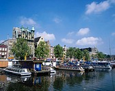 View of the Damrak. Amsterdam. Holland
