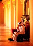Arab businessman checking his diary
