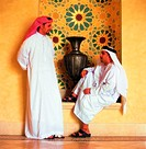 Arab men having a conversation (thumbnail)