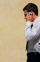 Businessman using mobile phone (thumbnail)