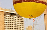 Hot air balloon, near the Phoenicia Intercontinental Hotel in Beirut, Lebanon
