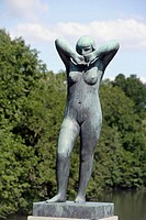 Gustav Vigeland's statue of girl at Frogner Park, Oslo. Norway