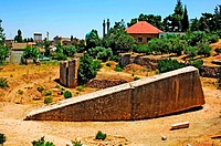 Hajar El Hibla The Stone of the Pregnant Woman, Baalbek, Lebanon