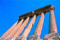 Roman Temple Ruins in Baalbek, Lebanon