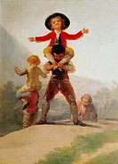 fine arts, Goya y Lucientes, Francisco de, 1746 _ 1828, painting, Las Gigantillas, little giants, 1792 _ 1793, oil on canvas, 137 cm x 104 cm, Prado, ...