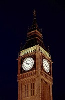 Big Ben lit up at night, London, England