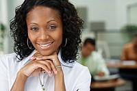 Portrait of African businesswoman in office