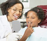 African female dentist young female patient